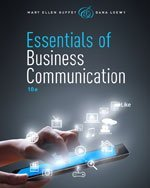 I.e. Essentials of Business Communication 10th.edition