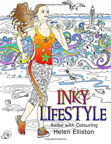 Inky Lifestyle: 50 Anti-Stress Adult Colouring Book Illustrations