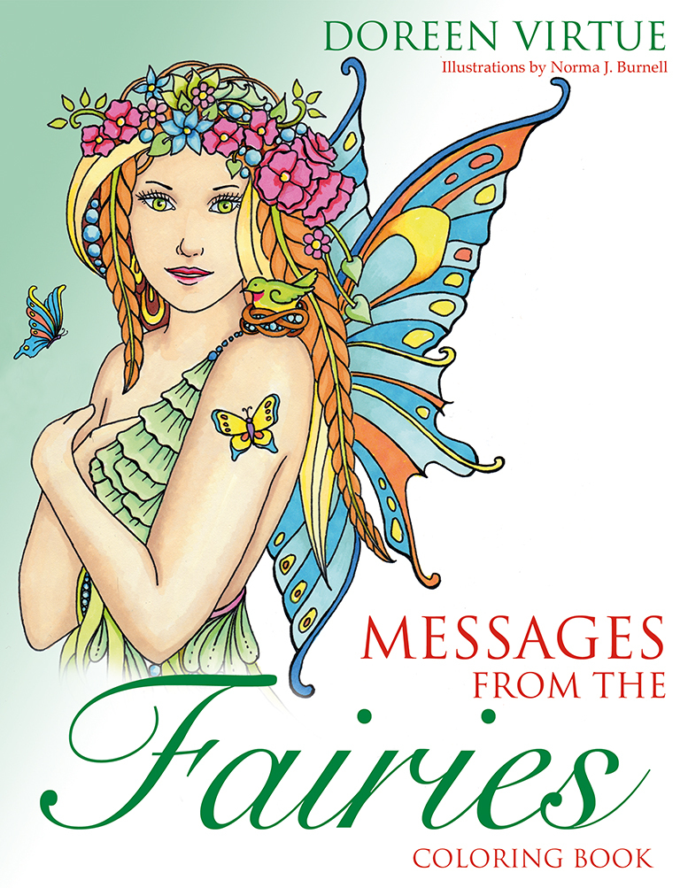 Messages from the Fairies Coloring Book