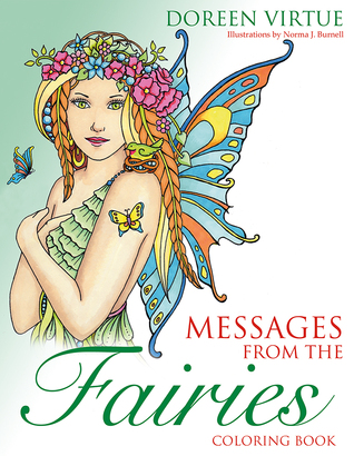 Messages from the Fairies Coloring Book by Doreen Virtue