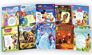 Disney Learn to Draw 10 Book Set: Brave, Enchanted Princesses, Favorite Fairies, Frozen, Mickey Mouse and His Friends, Minnie and Daisy, Palace Pets, Tangled, The Little Mermaid, The Princess and the Frog