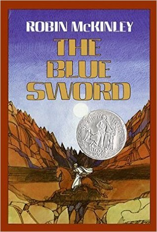 book cover: The Blue Sword by Robin McKinley