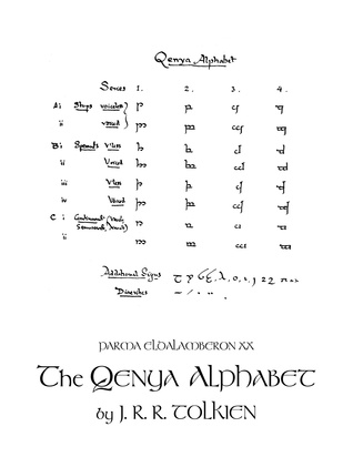 Parma Eldalamberon XX: The Qenya Alphabet