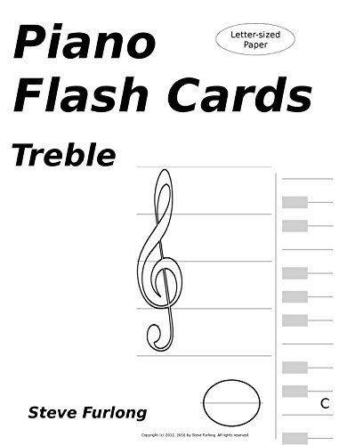 Piano Flash Cards: Treble Notes for Letter Paper
