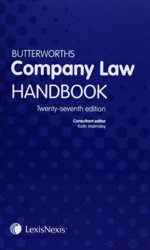 Butterworths company law handbook (27th Edition)