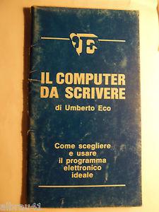 Il computer da scrivere