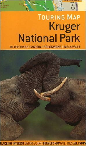 Touring Map of Kruger National Park: Blyde River Canyon, Polokwane, Nelspruit