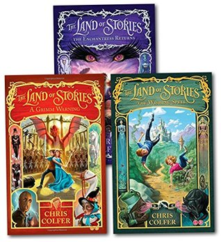 Land of Stories Chirs Colfer Collection 3 Books Set (Wishing Spell, Grim Warning, Enchantress Returns)
