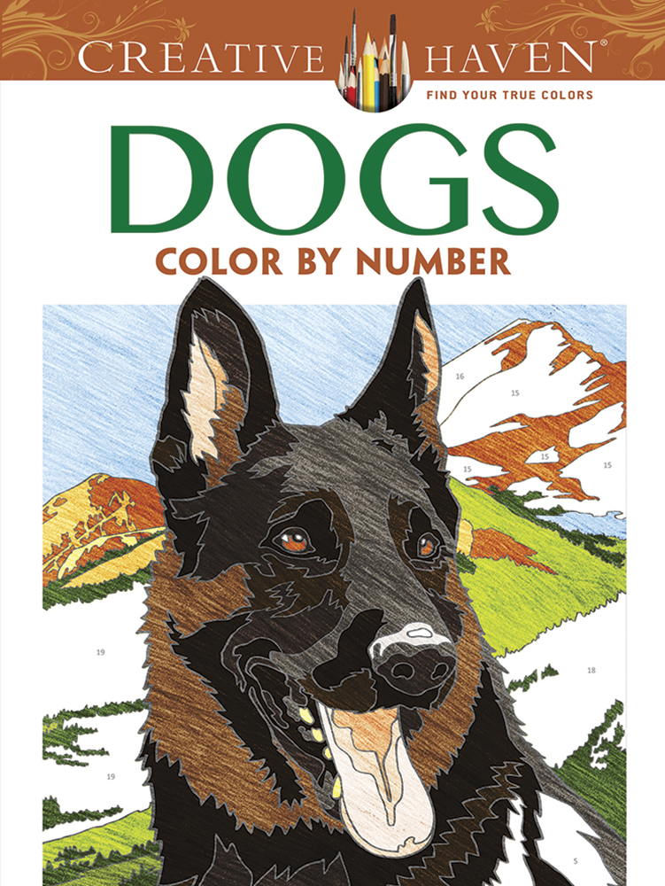 Creative Haven Dogs Color by Number Coloring Book