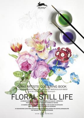 Giant Artists' Colouring Book Floral Still Life