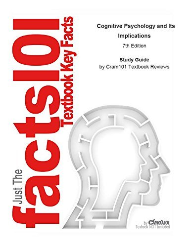 e-Study Guide for: Cognitive Psychology and Its Implications by John Anderson, ISBN 9781429219488