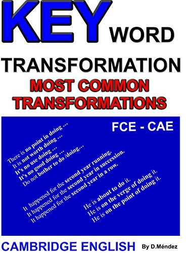 KEY WORD TRANSFORMATION - MOST COMMON TRANSFORMATIONS