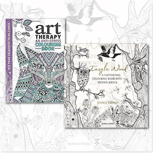 A Captivating Colouring Book Collection with Art Therapy Colouring Book, (Tangle Wood: A Captivating Colouring Book with Hidden Jewels and The Art Therapy Colouring Book)