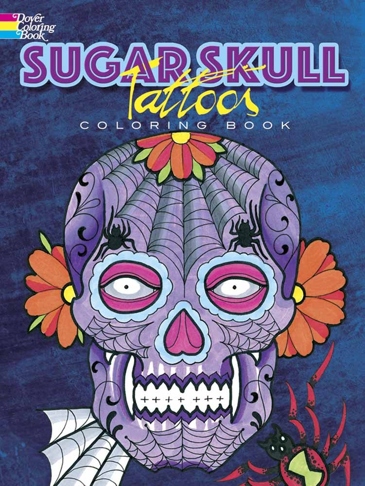 Sugar Skull Tattoos Coloring Book