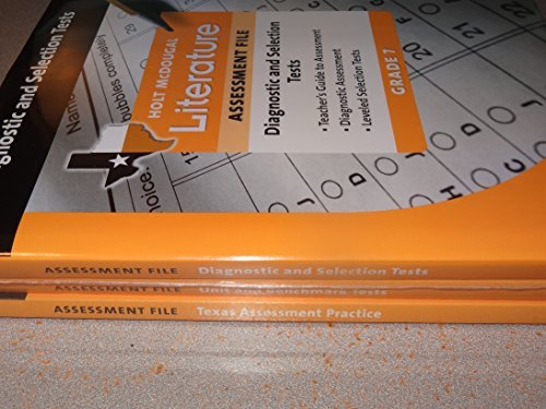 Holt McDougal Literature Texas Grade 7 Assessment File (3-Book Set)