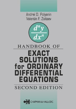 Handbook of Exact Solutions for Ordinary Differential Equations