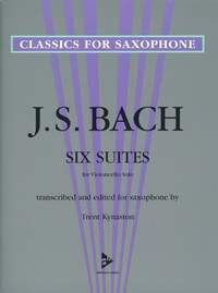 Six Suites for Violoncello Solo - transcribed and edited for saxophone - Classics for Saxophone series - saxophone - (ADV 7040)