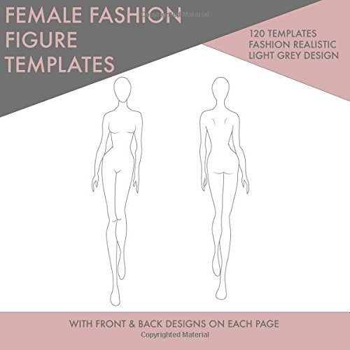 Female Fashion Figure Templates: Front and Back Female Fashion Figure Templates For Drawing Fashion