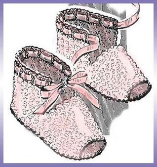 Open-Toed Baby Booties Shoes Slippers Vintage Crochet Pattern EBook Download