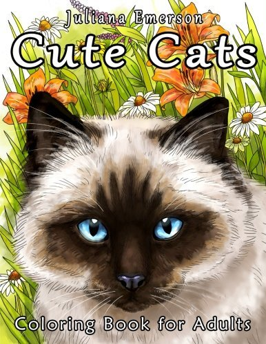 Cute Cats Coloring Book for Adults