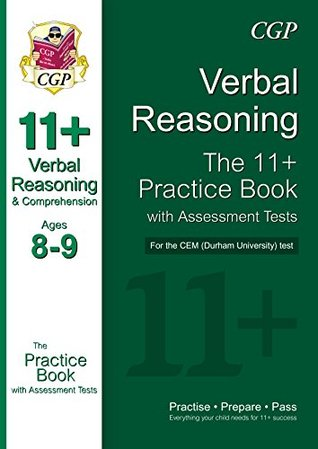 11+ Verbal Reasoning Practice Book with Assessment Tests (Ages 8-9) for the CEM Test