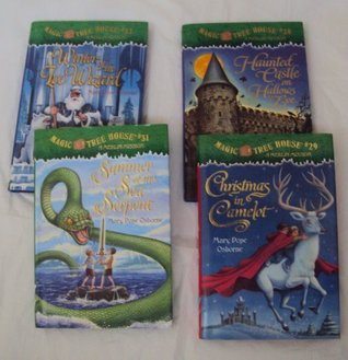 Magic Tree House #29 - #32 : Summer of the Sea Serpent, Christmas in Camelot, Haunted Castle on Hallows Eve, Winter of the Ice Wizard (Book sets for kids)