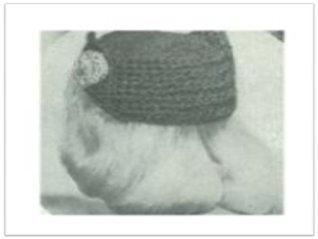 #2390 PETER PAN STRAW HAT VINTAGE CROCHET PATTERN