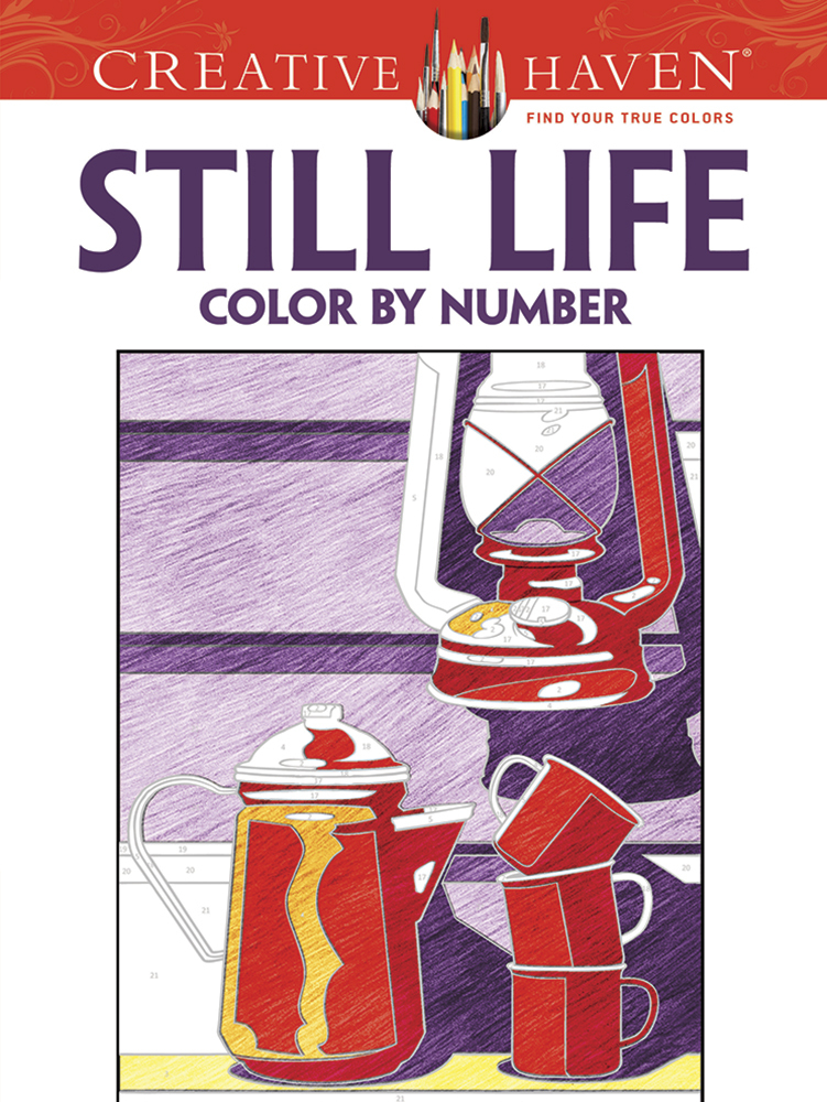 Creative Haven Still Life Color by Number Coloring Book