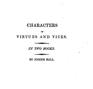 Characters of Virtues and Vices