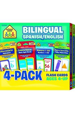 Bilingual Spanish/English Flash Card 4-Pack