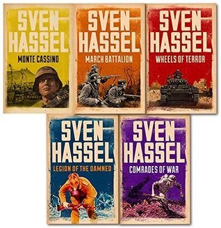 Sven Hassel Cassell Military Series 5 Books Collection Set, (Comrades of war, Legion of the damned, March Battalion, Wheels of Terror, Monte Cassino)