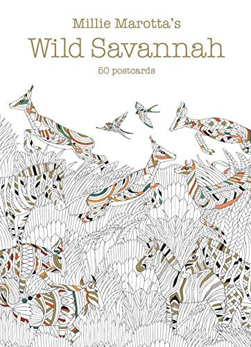 Millie Marotta's Wild Savannah (Postcard Box): 50 Postcards