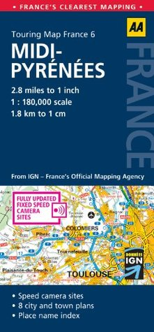 Touring Map France: Midi-Pyrenees
