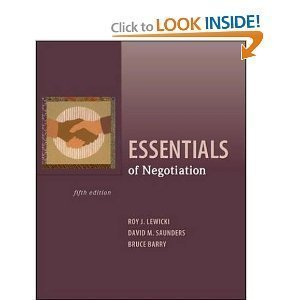 Essentials of Negotiation [[5th (fifth) Edition]]