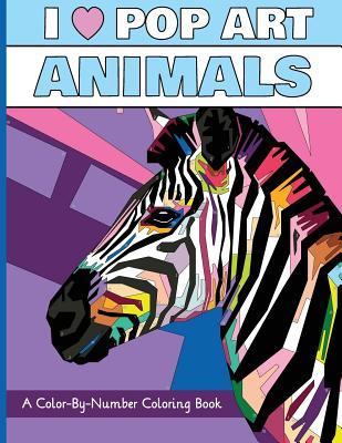 I Heart Pop Art Animals: A Color-By-Number Coloring Book
