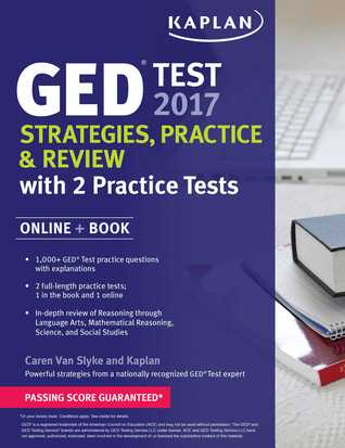 GED Test 2017 Strategies, Practice Review with 2 Practice Tests: Online + Book