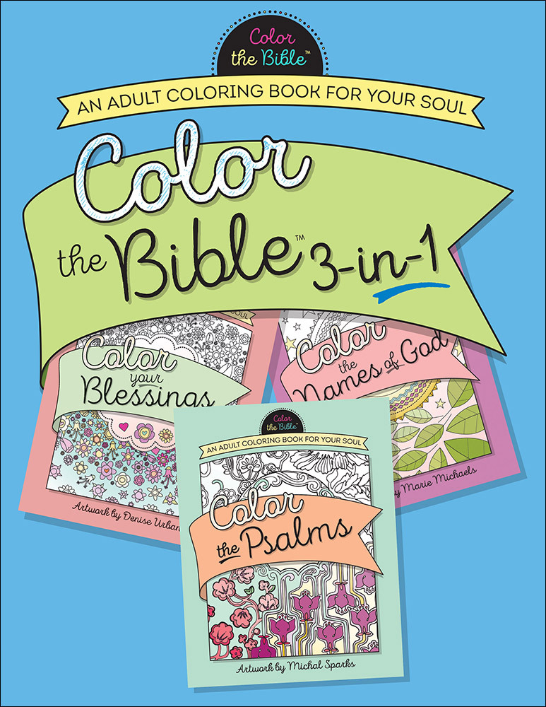 Color the Bible® 3-in-1: An Adult Coloring Book for Your Soul