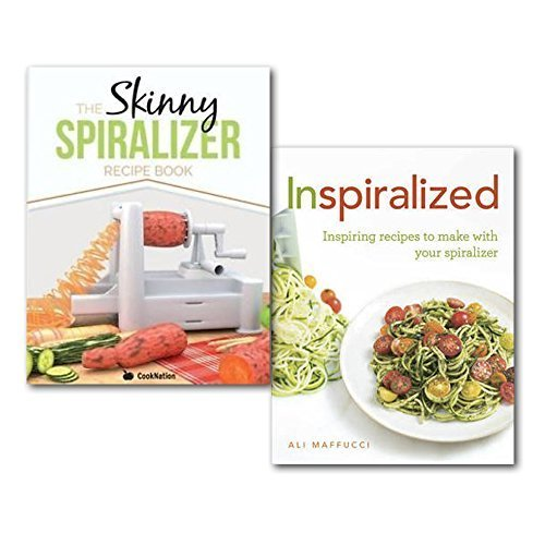 Inspiralized Delicious Recipe Books Collection Set Low Calorie Recipes For One. (Inspiralized: Inspiring recipes to make with your spiralizer and The Skinny Spiralizer Recipe Book: Delicious Spiralizer Inspired Low Calorie Recipes For One. All Under