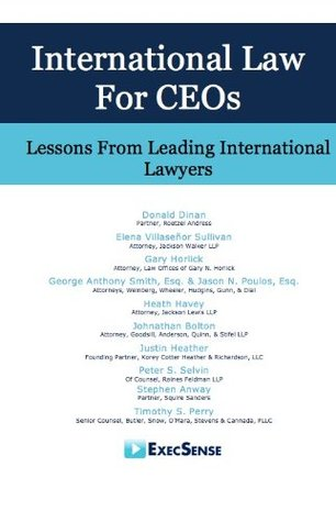 International Law for CEOs: Lessons From Leading International Lawyers