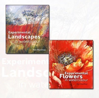 Ann Blockley's Experimental Flowers in Watercolour and Experimental Landscapes in Watercolour Collection 2 Books Bundle