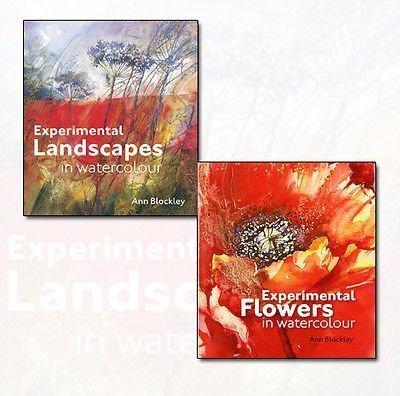 Ann Blockley's Experimental Flowers in Watercolour and Experimental Landscapes in Watercolour Collection 2 Books Bundle