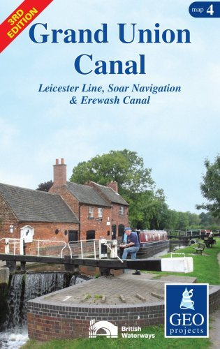 Grand Union Canal: Leicester Line, Soar Navigation and Erewash Canal Map 4