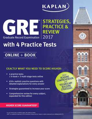 GRE 2017 Strategies, Practice  Review with 4 Practice Tests: Online + Book