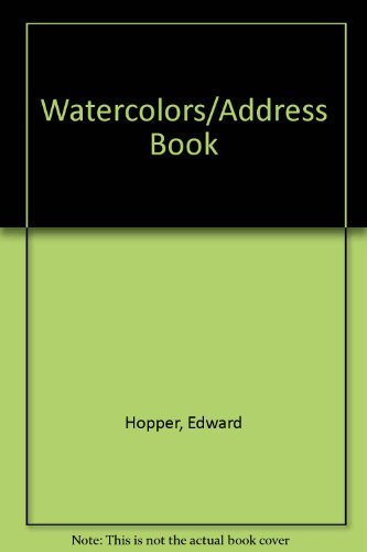Edward Hopper Watercolors Address Book
