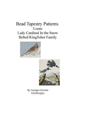 Bead Tapestry Patterns Loom Lady Cardinal in the Snow Belted Kingfisher Family
