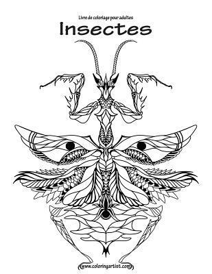 Livre de Coloriage Pour Adultes Insectes 1