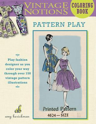 Vintage Notions Coloring Book Pattern Play By Amy Barickman