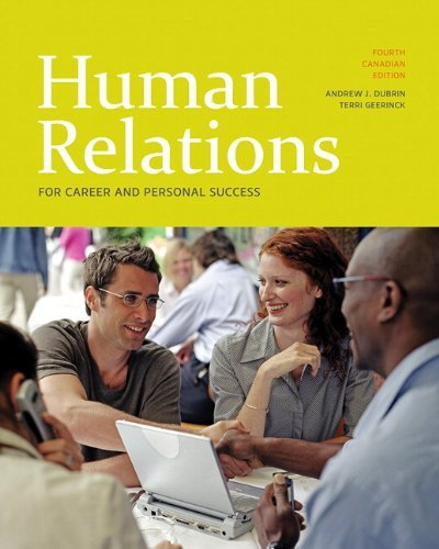 Human Relations for Career and Personal Success, Fourth Canadian Edition (4th Edition)
