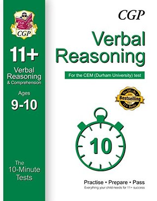 10-Minute Tests for 11+ Verbal Reasoning Ages 9-10 - CEM Test