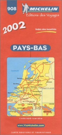 Michelin Netherlands Map 908, 5e